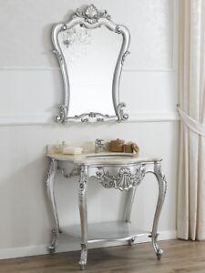 Console meuble salle de bain avec miroir Eleonor style Baroque ...