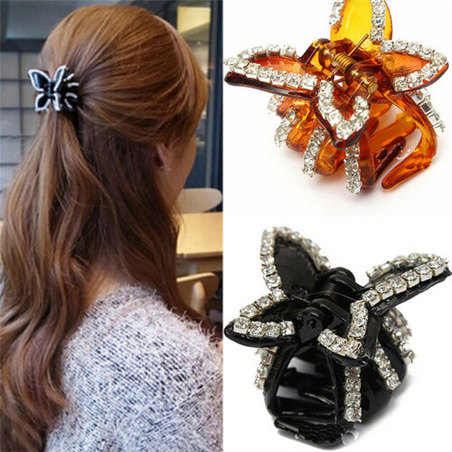 New Women Butterfly Crystal Rhinestone Claw Hairpin Hair Clip Clamp Accessor  ZY