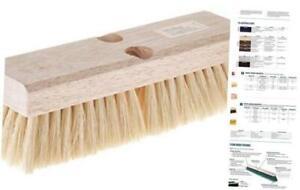 Weiler 44028 Deck Scrub Brush 10 White Tampico Fill