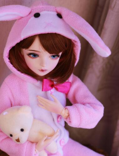 1//3 BJD Doll Puppe Mädchen Mit Gesicht Make-Up Augen Perücken Kleidung Full Set