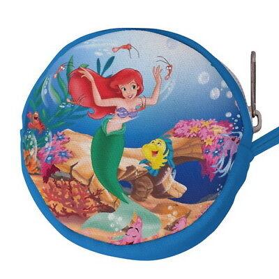 The Little Mermaid Ariel Canvas Mini Circular Wallet Coin Purse p77 w0048