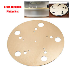 HiFi-Pure-Brass-Turntable-Platter-Mat-for-Vinyl-LP-Record-Player-2mm-Pad-Slipmat