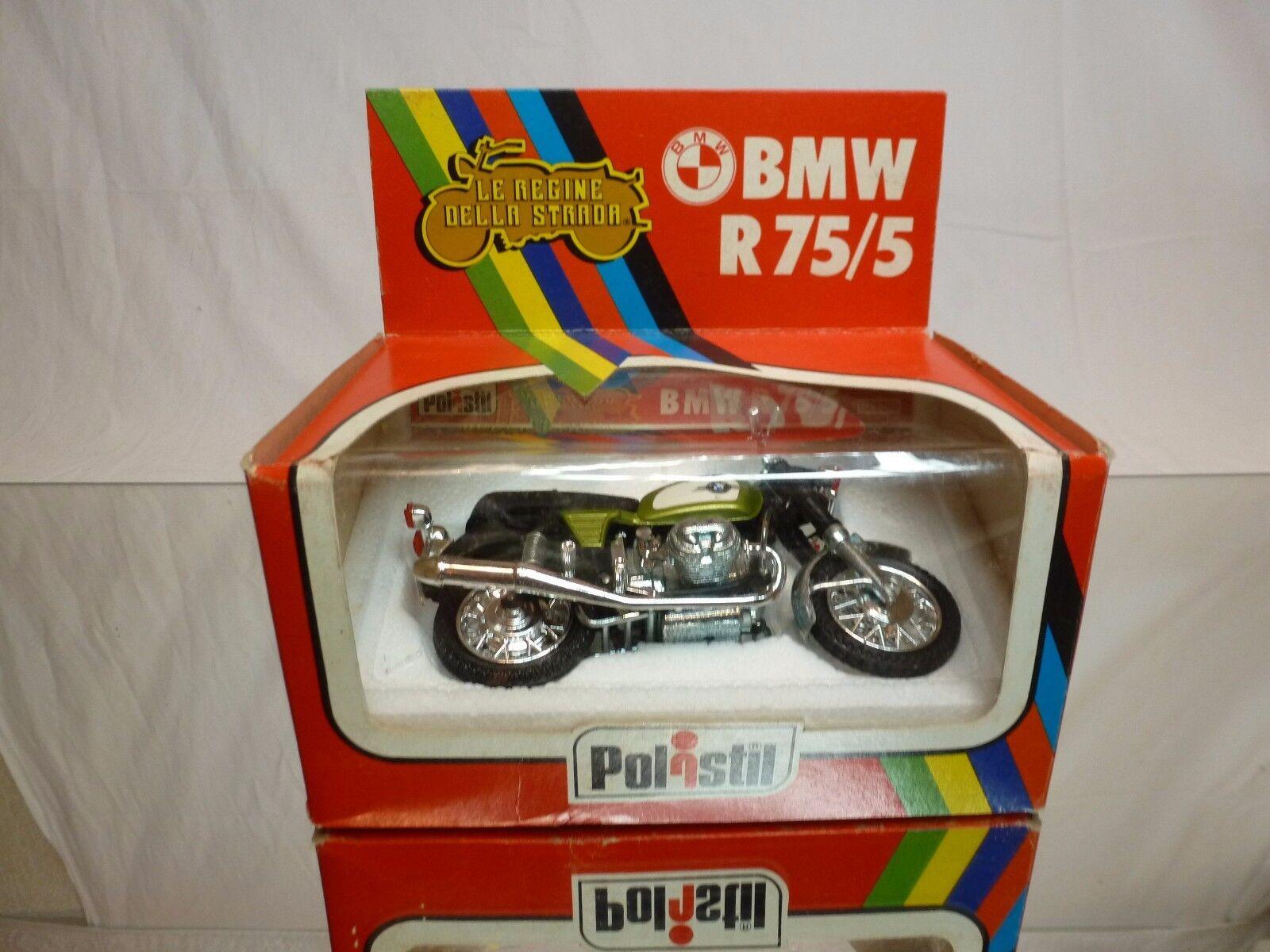 POLISTIL MS605 BMW R75 R75 R75 R 75 5 - GREEN METALLIC 1 15 - GOOD CONDITION IN BOX b055ab