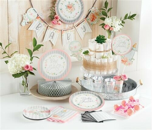Farmhouse Floral Baby Shower Paper Lunch Napkins 16 Pack Baby Shower Decoration