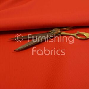 Sold By The 1 Metre Soft Faux Leather In Plain Textured Matt Finish Red Colour Upholstery Fabric