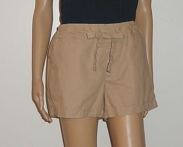 New Route 66 Women's Pull On Draw String Shorts In Khaki Choose Size