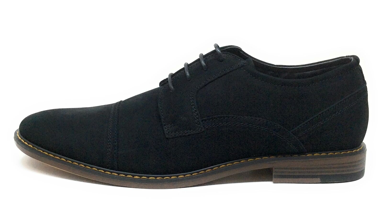 J75 By Jump Mens Paulson Lace Oxford Dress Shoes Black Leather Size 9.5 M US