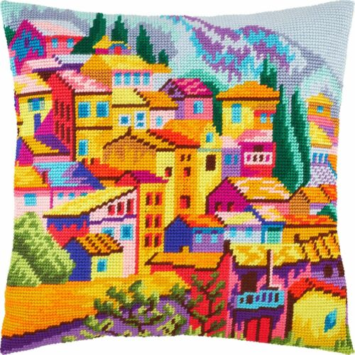 "Needlepoint//Tapestry Pillow Cover DIY Kit /""Montenegro/"""