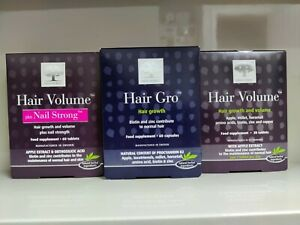 3 x New Nordic Hair Volume + Hair Gro - 3 Month Supply