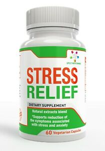 STRESS RELIEF promotes reduction of Stress, Anxiety, Ashwagandha, 60 capsules