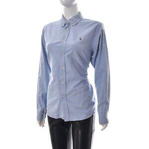 Ralph-Lauren-Femmes-Boutonne-Oxford-Business-Workwear-Shirt-a-Manches-Longues-20