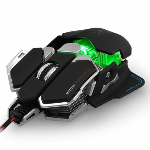 4000 DPI Professional LED Optical Mechanical Wired Gaming Mouse For PC Laptop US