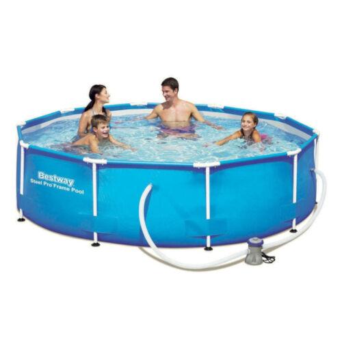 "Bestway Frame Pool Set /""Steel Pro/""Ø 305 cmPumpe FilterSchwimmbad"