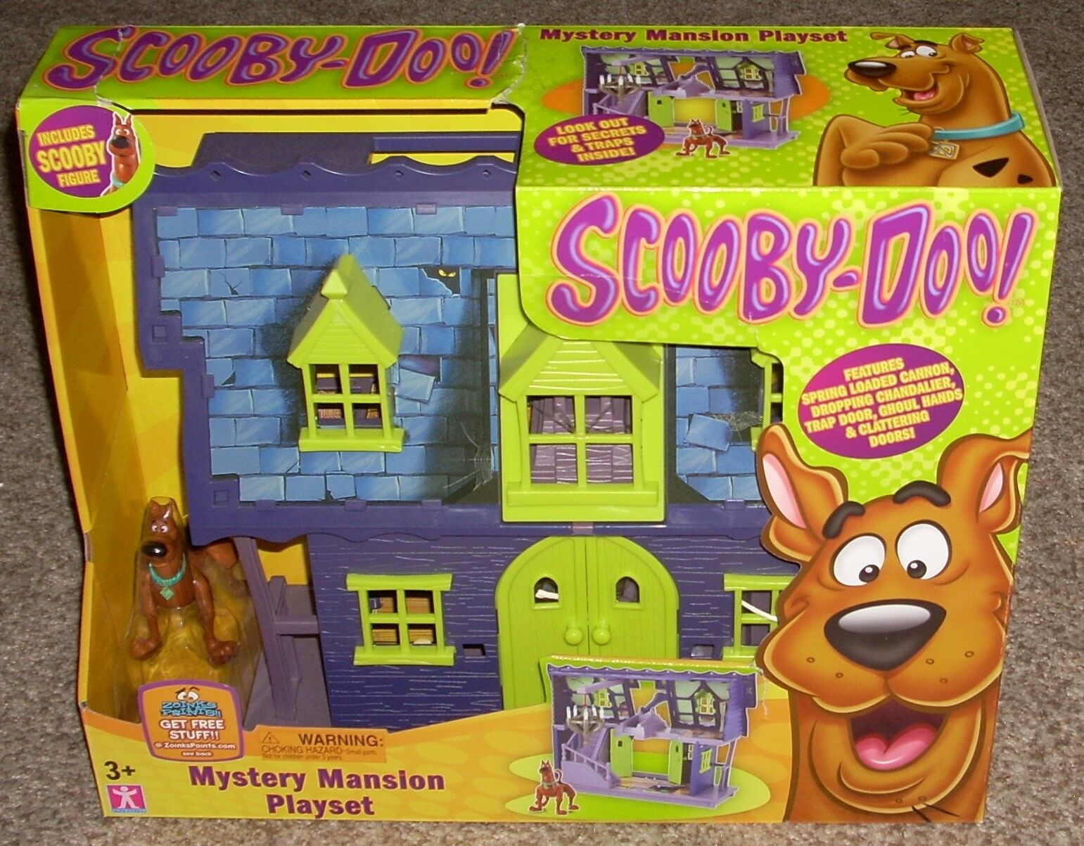 Charte Scooby Doo Mystery Mansion Playset personnage HANNA BARBERA FIGURINE