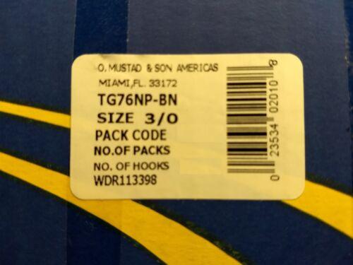 25 Mustad KVD-Elite Triple-Grip 1X Treble Hooks TG76NP-BN UltraPoint Size 3//0