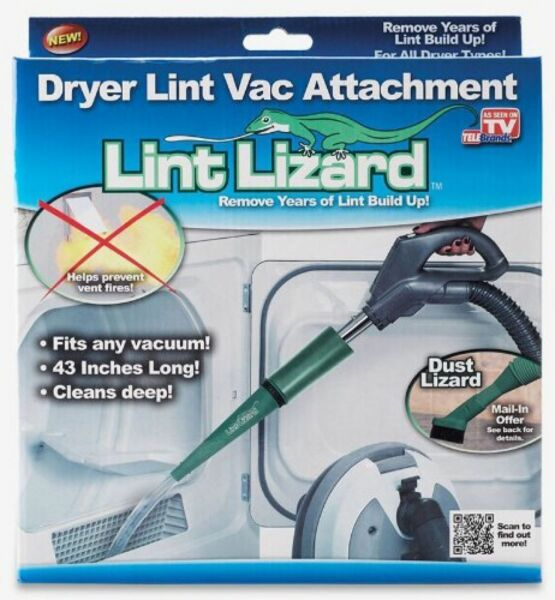 Lint Lizard Dryer Vent Removal Attachment Clean Vacuum