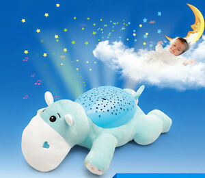 Relaxing-Star-Sky-Musical-LED-Night-Light-Projector-Lamp-Baby-Sleep-Hippo-Toy-GG