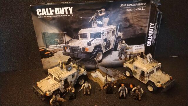 Mega Bloks Call Of Duty Light Armour Firebase, 2 VEHICLES AND FIGURES.