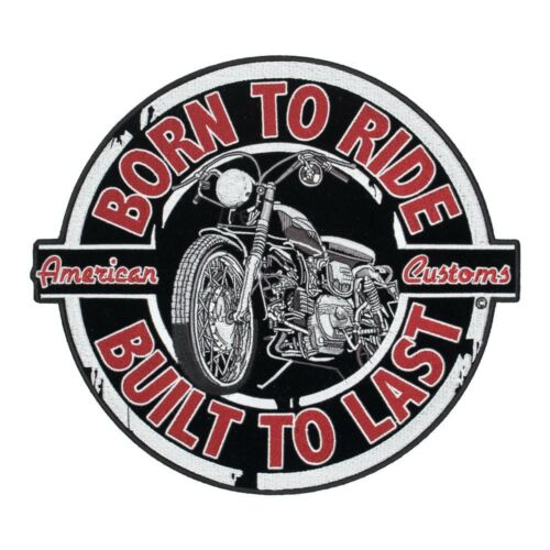 Biker Back Patches Born To Ride Vintage Motorcycle Patch