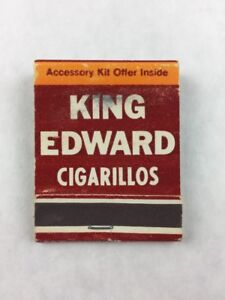 Vintage-King-Edward-Cigarillos-Collectible-Matchbook