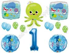 Octopus UNDER THE SEA 1st Birthday Party Balloons Decoration Supplies Ocean