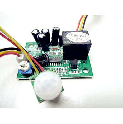 DC12V Universal Power ON/OFF Motion Sensor Switch DIY PCB + Wire