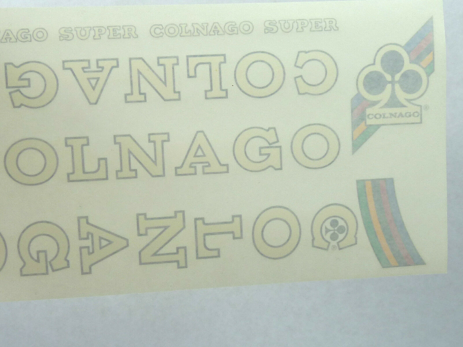 Colnago Decal Set Super Original From The  1980'S White NOS Vintage Racing Bike  quality product
