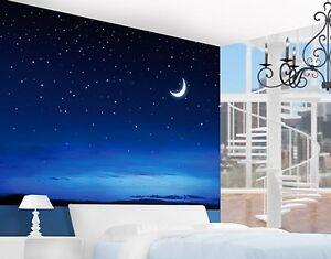 Das Bild Wird Geladen Papier Tapeten Fototapete Sternenhimmel Kinder Zimmer Wandtapete Sterne