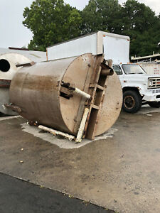 Stainless Steel Tank Approx. 2600 Gallon With Interior Coil Used