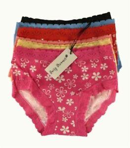 25ab6e58 Detalles de Paquete De 12 Mujer Braguita Bikini caña alta, 100% Ropa  Interior algodón, talla