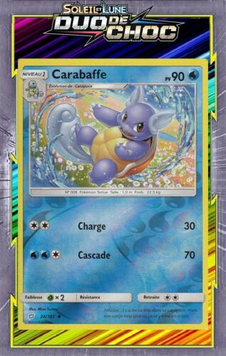 Carte Pokemon Neuve Française 24//181 Carabaffe Reverse SL09:Duo De Choc