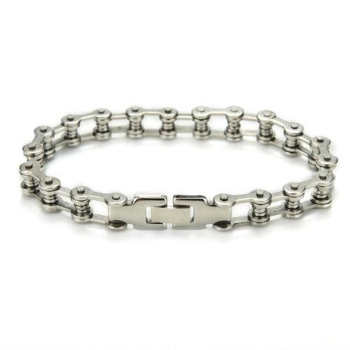Punk Stainless Steel Bracelet Men Biker Bicycle Motorcycle Chain Bracelet  D;b$
