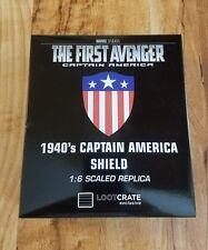 Captain America 1940's Shield 1:6 Scaled Replica Fast Shipping
