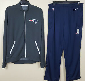 Football-nfl United Nike New England Patriots Dri-fit Suit Jacket+pants Team Issued Nfl Rare Size Xl