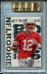 2000-Black-Diamond-Football-126-Tom-Brady-Rookie-Card-RC-Graded-BGS-Gem-Mint-9-5