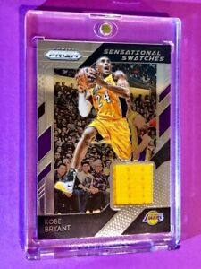 Kobe-Bryant-PANINI-PRIZM-SENSATIONAL-SWATCHES-GAME-WORN-JERSEY-Hot-Card-Mint