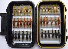 36 Kaufman Stonefly Collection * Trout Fishing * 3 Dozen w/ Waterproof Fly Box