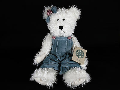 Boyds Bears Winnie II White Bear Blue Romper #912071-01 1998 Retired