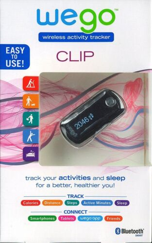 Wego-Neuf avec étiquettes Bluetooth ceinture Clip//Pocket Wireless Activity And Sleep Tracker New ™