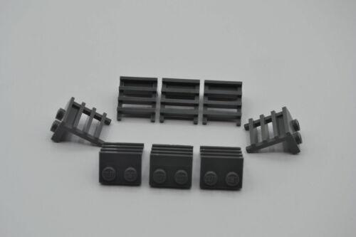 LEGO 8 x Leiter neues dunkelgrau Dark Bluish Gray Plate 1x2 with Ladder 4175