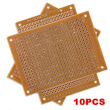 10Pcs 5 x 7 cm DIY Prototype Paper PCB fr4 Universal Board Prototyping Kit NEW