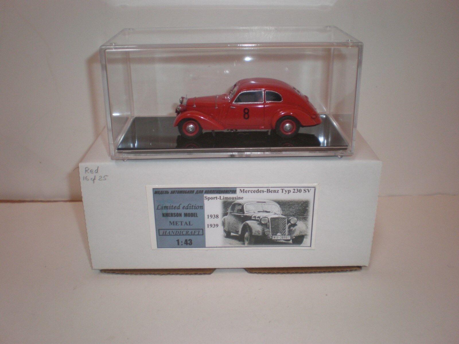 1 43 1938-1939 Mercedes Benz 230 SV Sport Limousine red