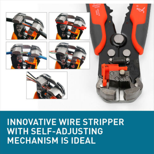5IN1 Auto Wire Cutter Stripper Pliers Electrical Cable Crimper Terminal Tool USA