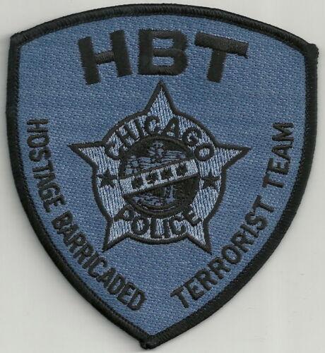 CHICAGO ILLINOIS POLICE HBT TERRORIST HOSTAGE TEAM TACTICAL PATCH