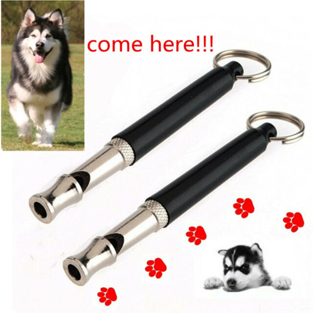 Dog/Puppy Training Whistle UltraSonic Adjustable Sound Silent w/ Key Chain 90mm