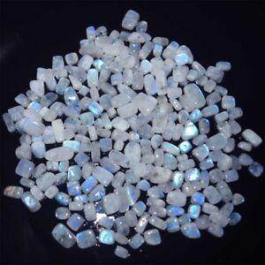 Natural-White-Rainbow-Moonstone-Tumble-Mix-Shape-Cabochon-Loose-Gemstone-Lot