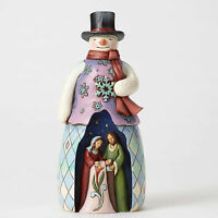 Jim Shore Snowman W/holy Family Figurine Cold Night, Warm Miracle 4053714