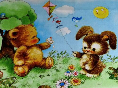 Adorable Baby Animals Panels for Infants /& Toddlers Cotton by Giordano Studios