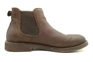 dockers comfort zone brown leather casual slip on chelsea