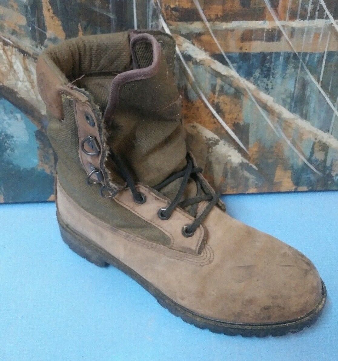 Rocky Size 8.5 M Brown Leather Hunting Hiking Oil Slip Resist Boots RB825